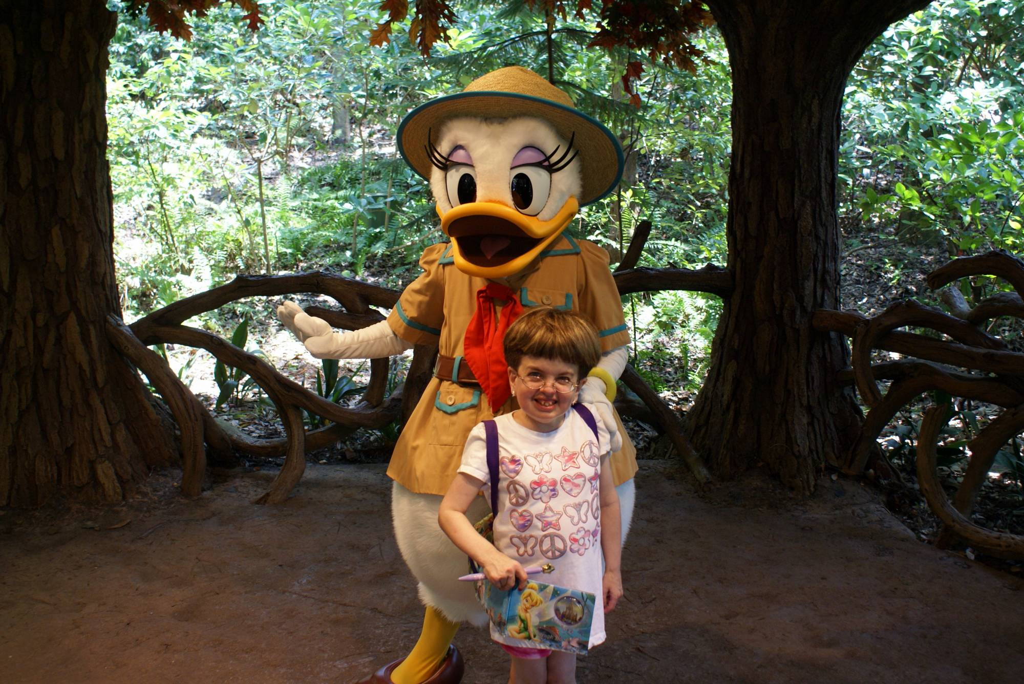 Posing with Daisy Duck