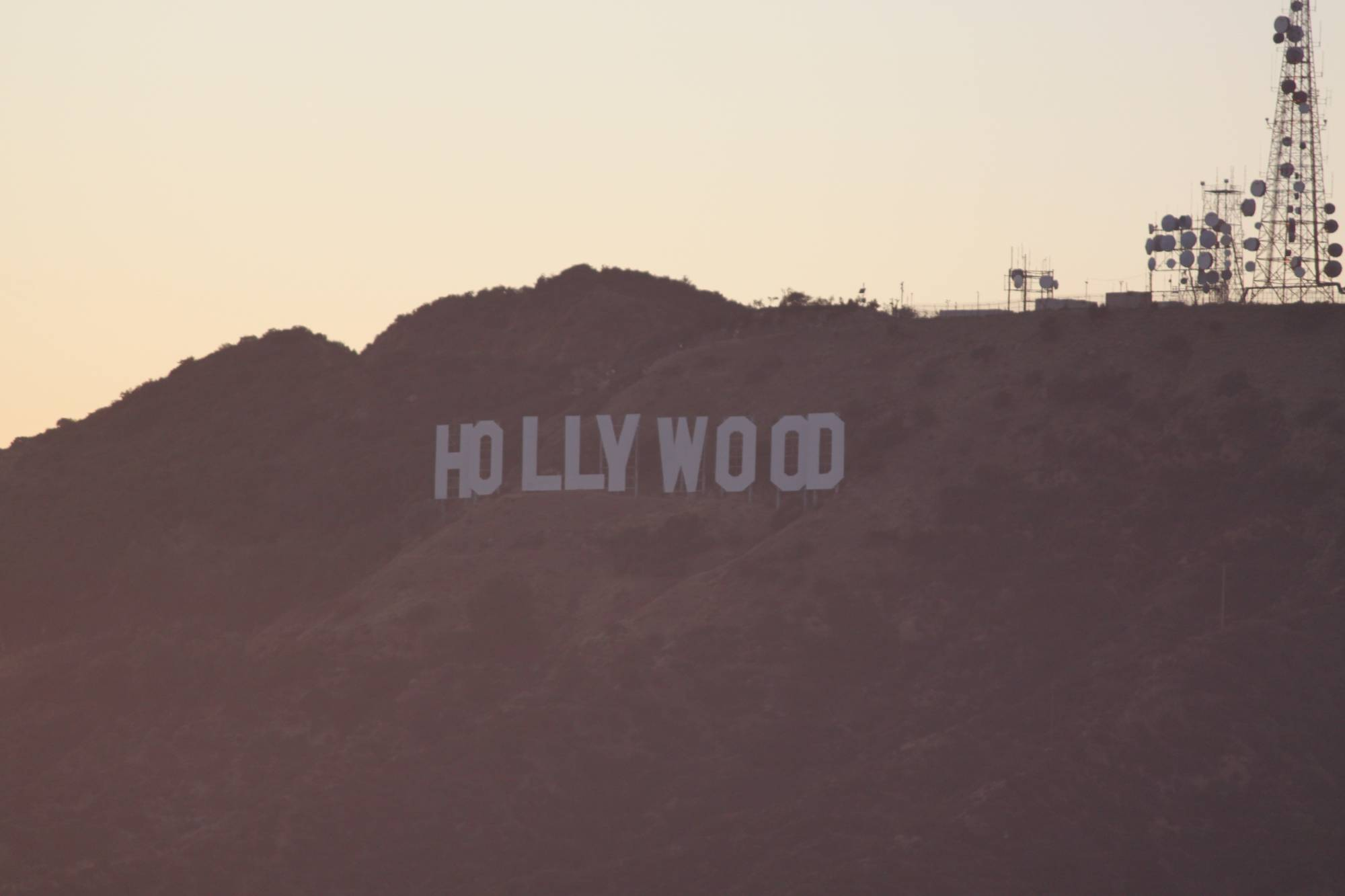 Hollywood sign from Griffith Observatory - Los Angeles