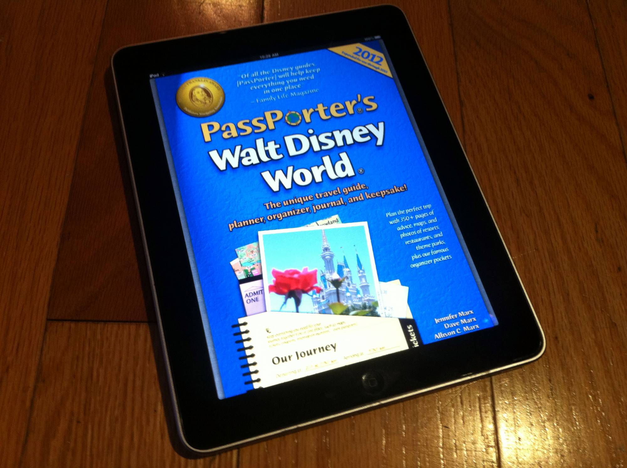 PassPorter's Walt Disney World 2012 on an iPad!