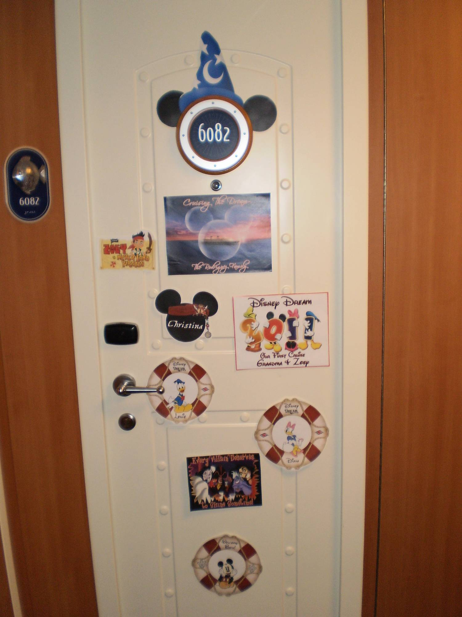 Disney Dream Decorated Stateroom Door