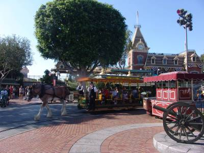 Disneyland Park - horse drawn carriage