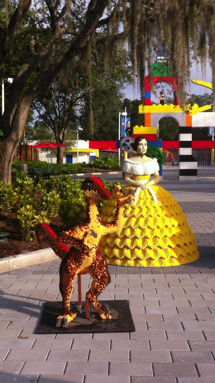 Southern Belle and Dino at LEGOLAND Florida