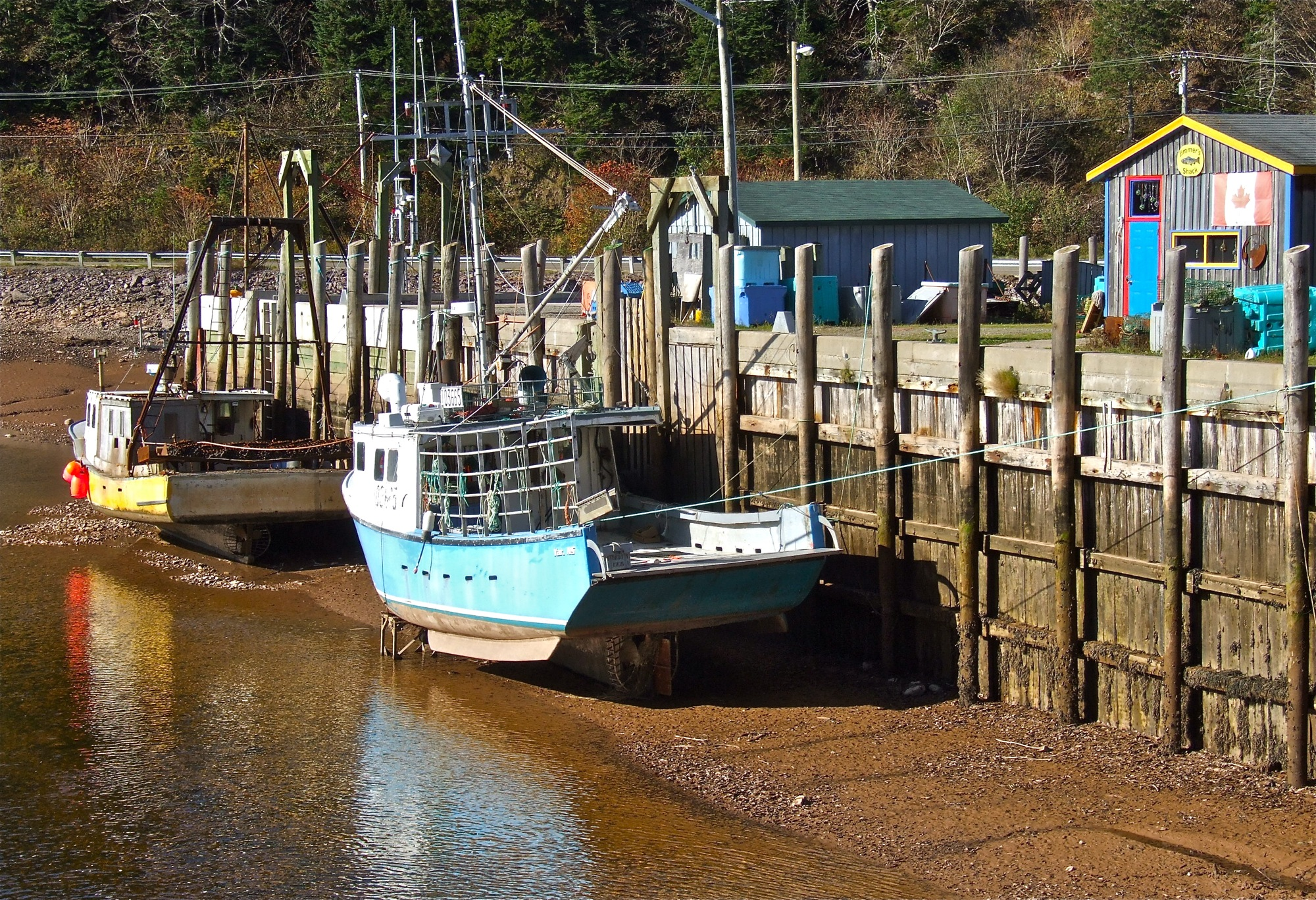 Low Tide in St. Martins, NB