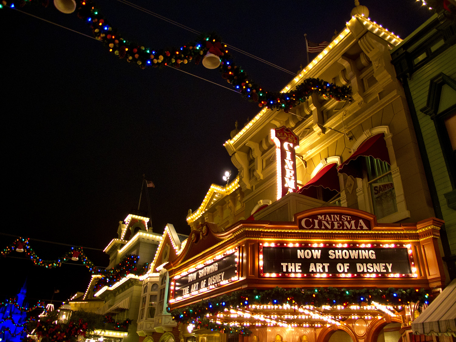 Magic Kingdom Main Street during the holidays