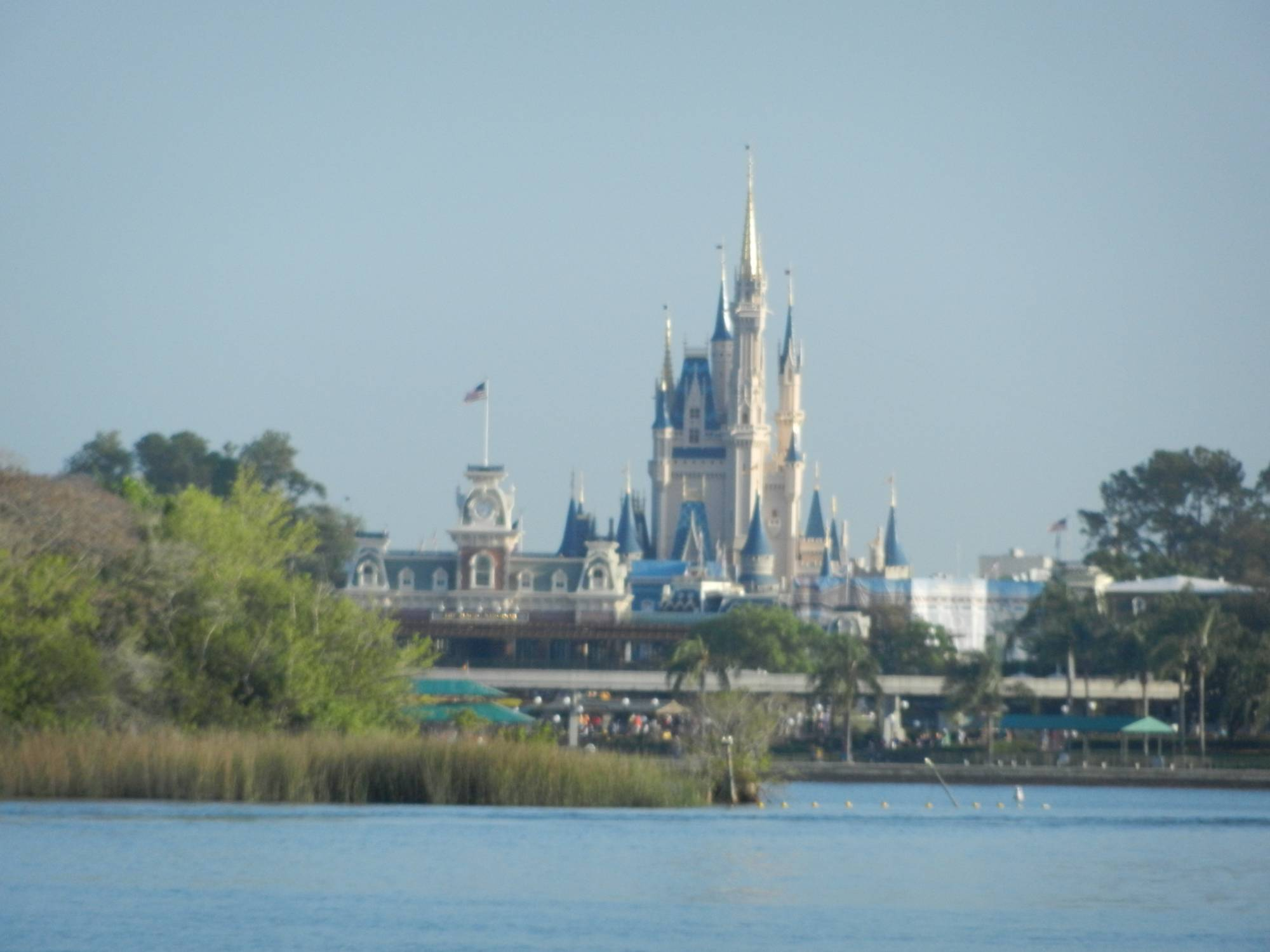 Waiting for the Ferry - View of Magic Kingdom