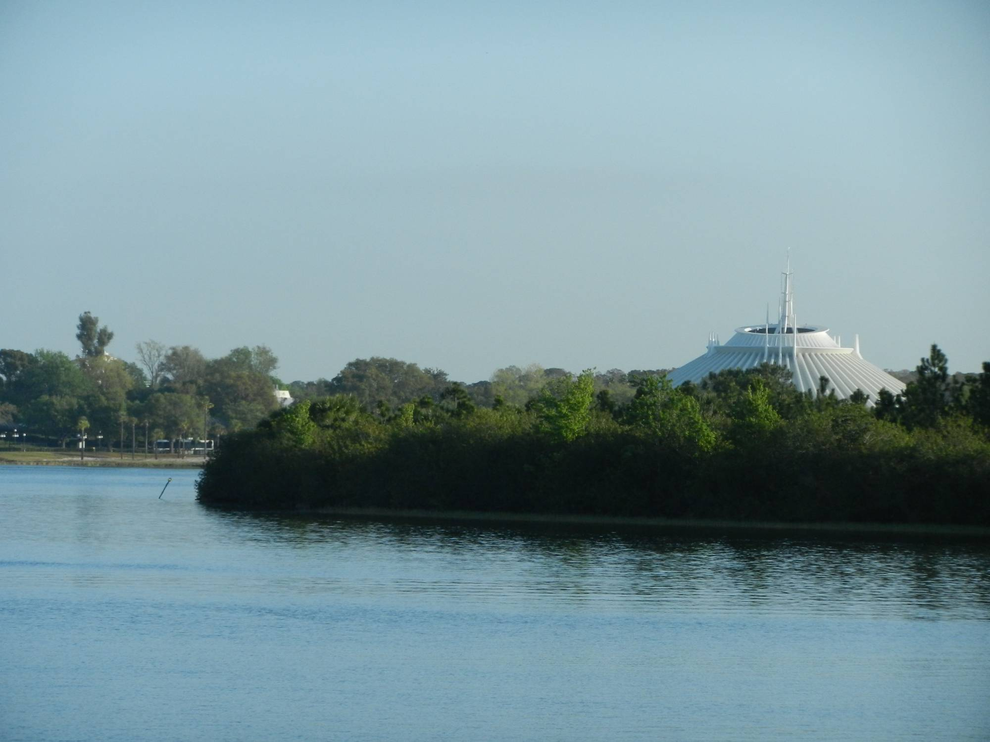 Waiting for the Ferry - View of Space Mountain