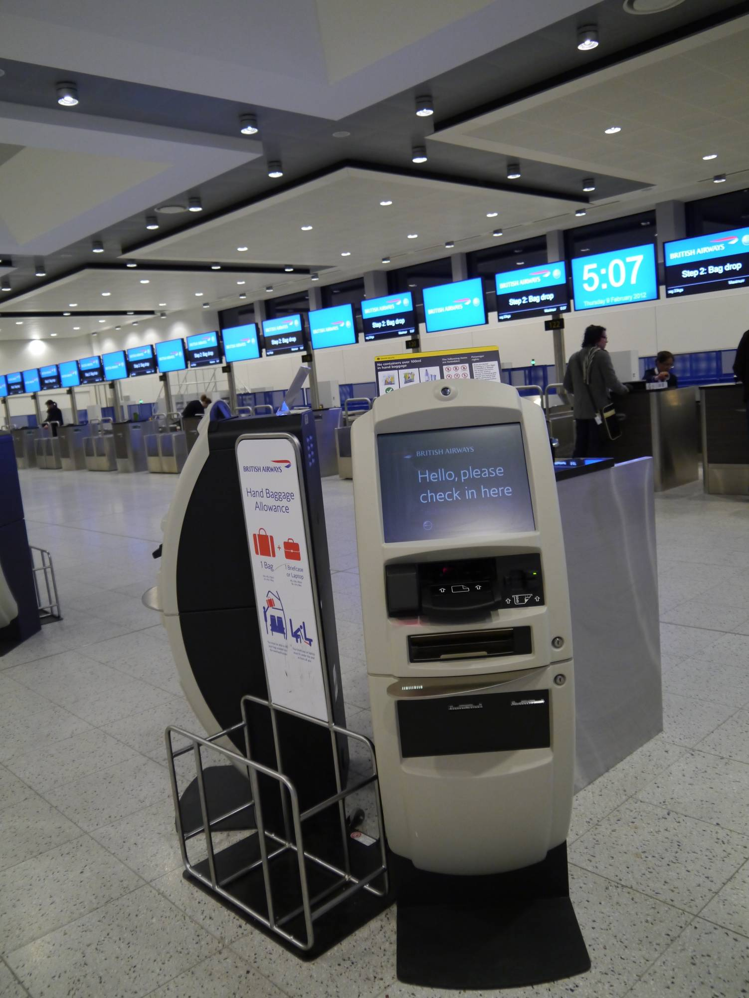 Gatwick - British Airways self check-in