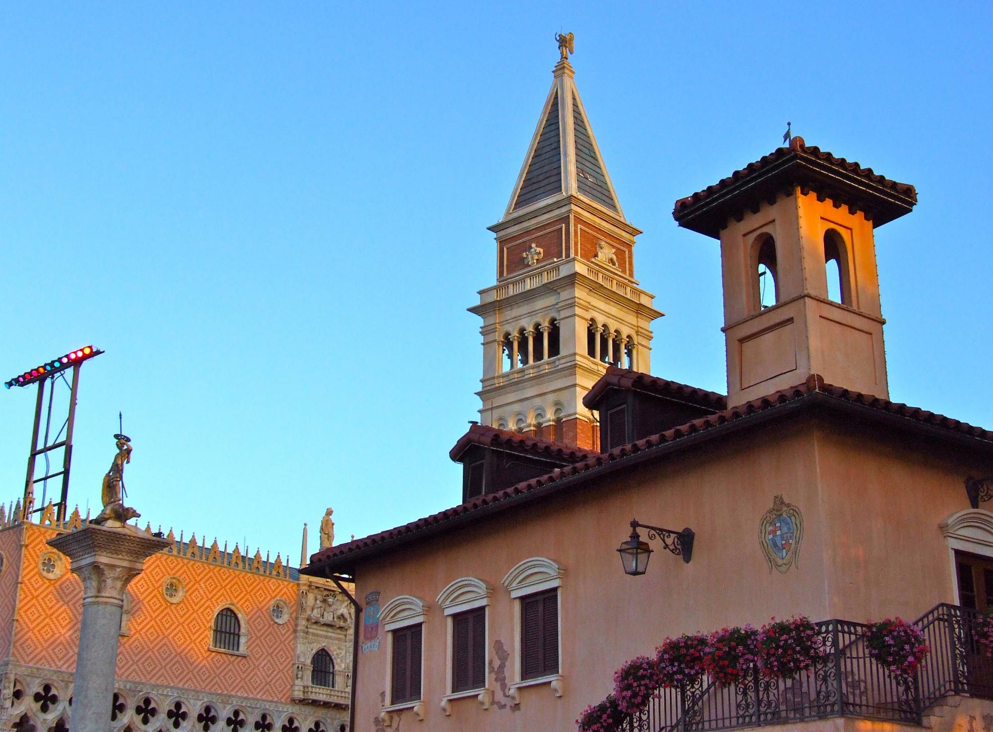Epcot Italy Pavilion at the Golden Hour