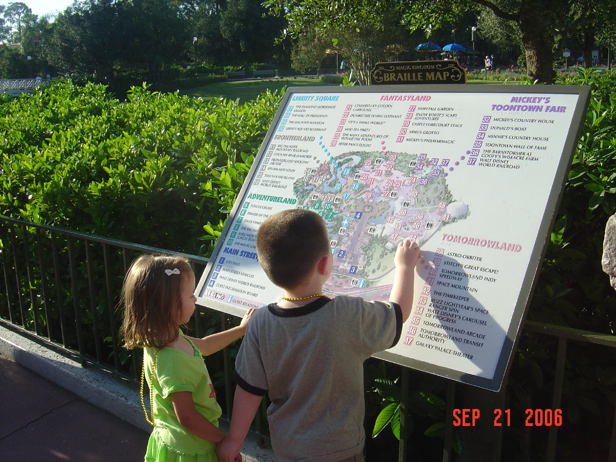 Magic Kingdom - Map of the Park