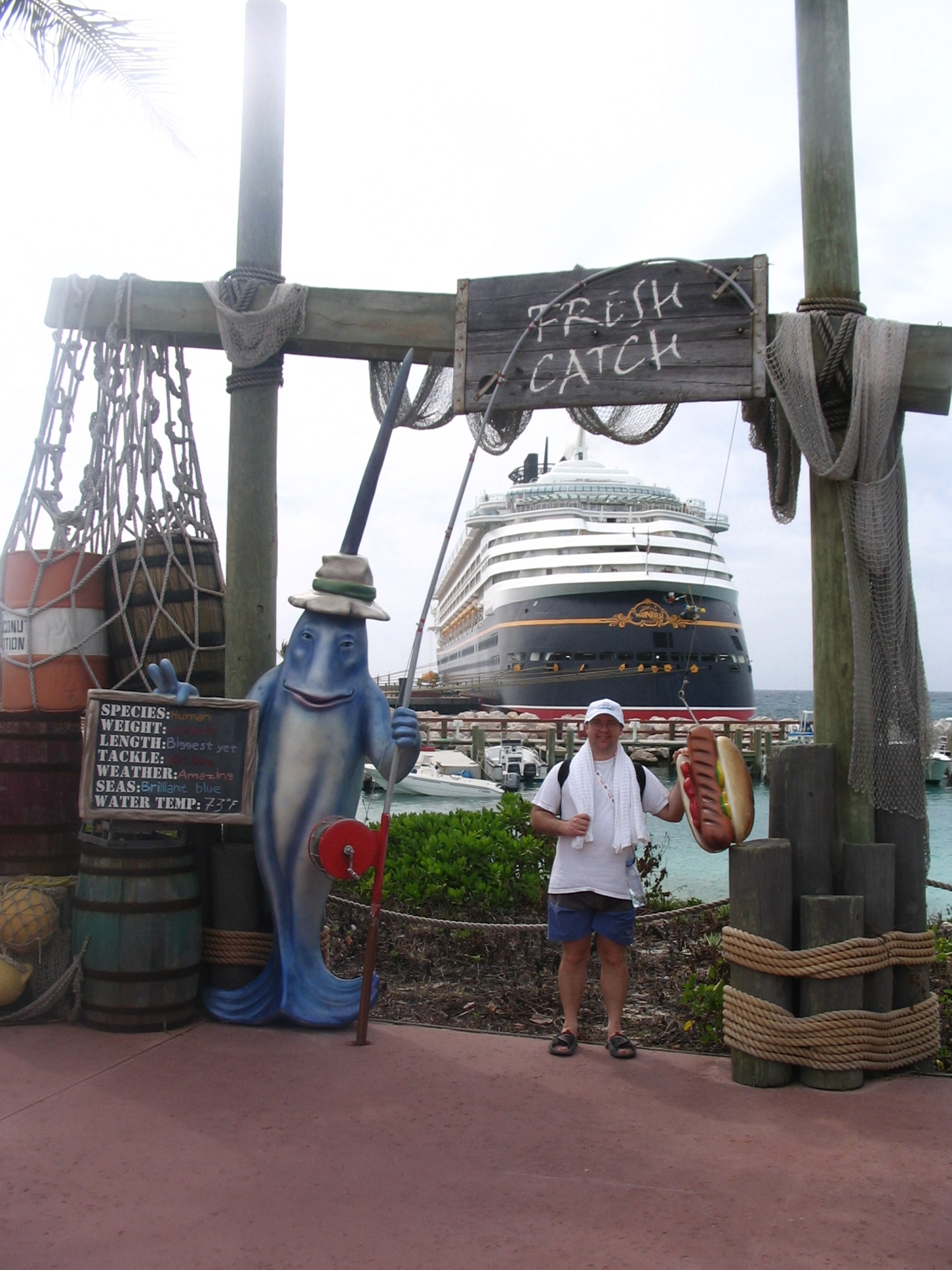 "Castaway Cay--Big Fish with his ""Catch"""