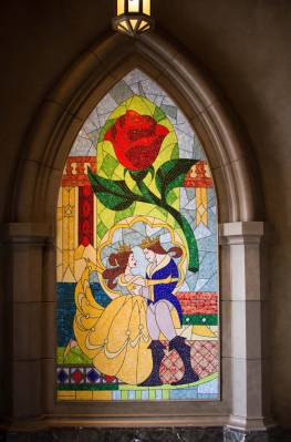Fantasyland - Beauty and the Beast Mural - PassPorter Photos
