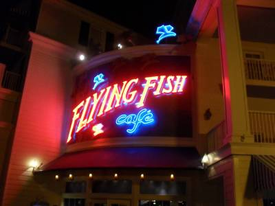 Flying Fish Cafe - sign