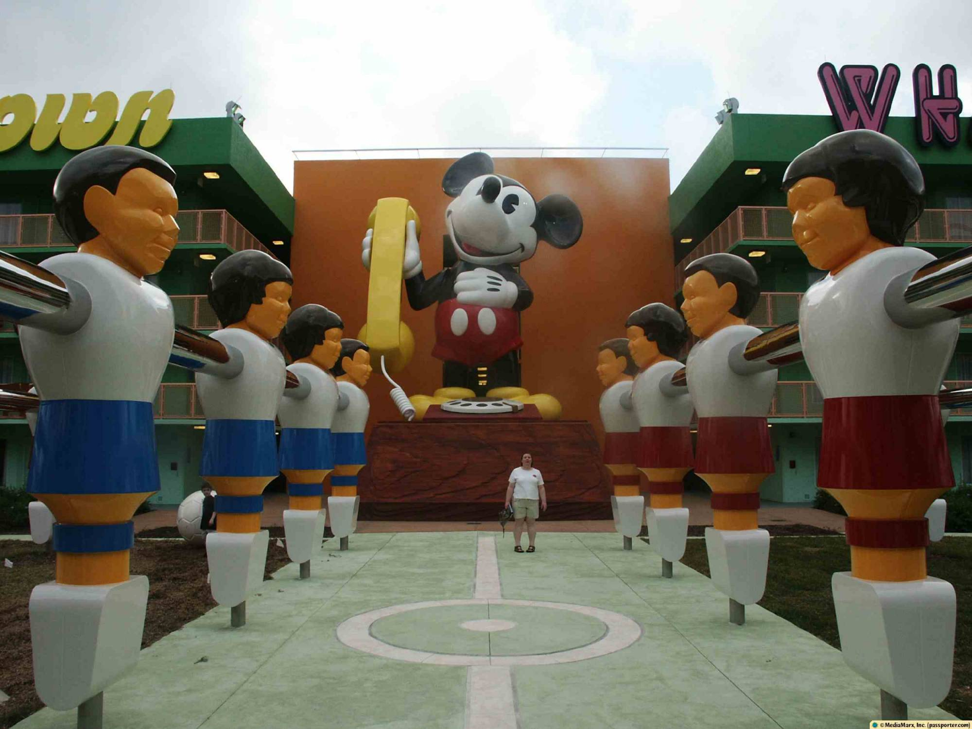 Pop Century - Foosball and Mickey Phone