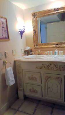 Disneyland New Orleans Square Dream Suite master bath vanity