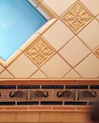Disneyland New Orleans Square Dream Suite master bath tiles