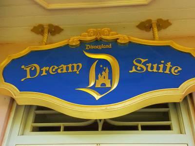 Disneyland New Orleans Square Dream Suite door and sign