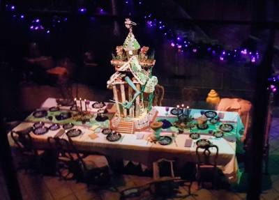 Disneyland Haunted Mansion gingerbread house