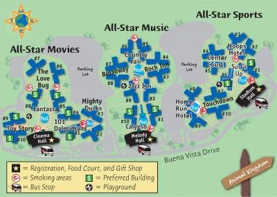 All Star Resorts Map Passporter Photos