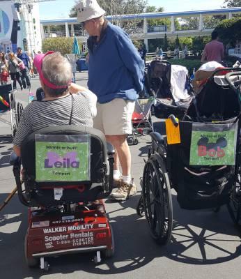 Walt Disney World with wheelchair & scooter