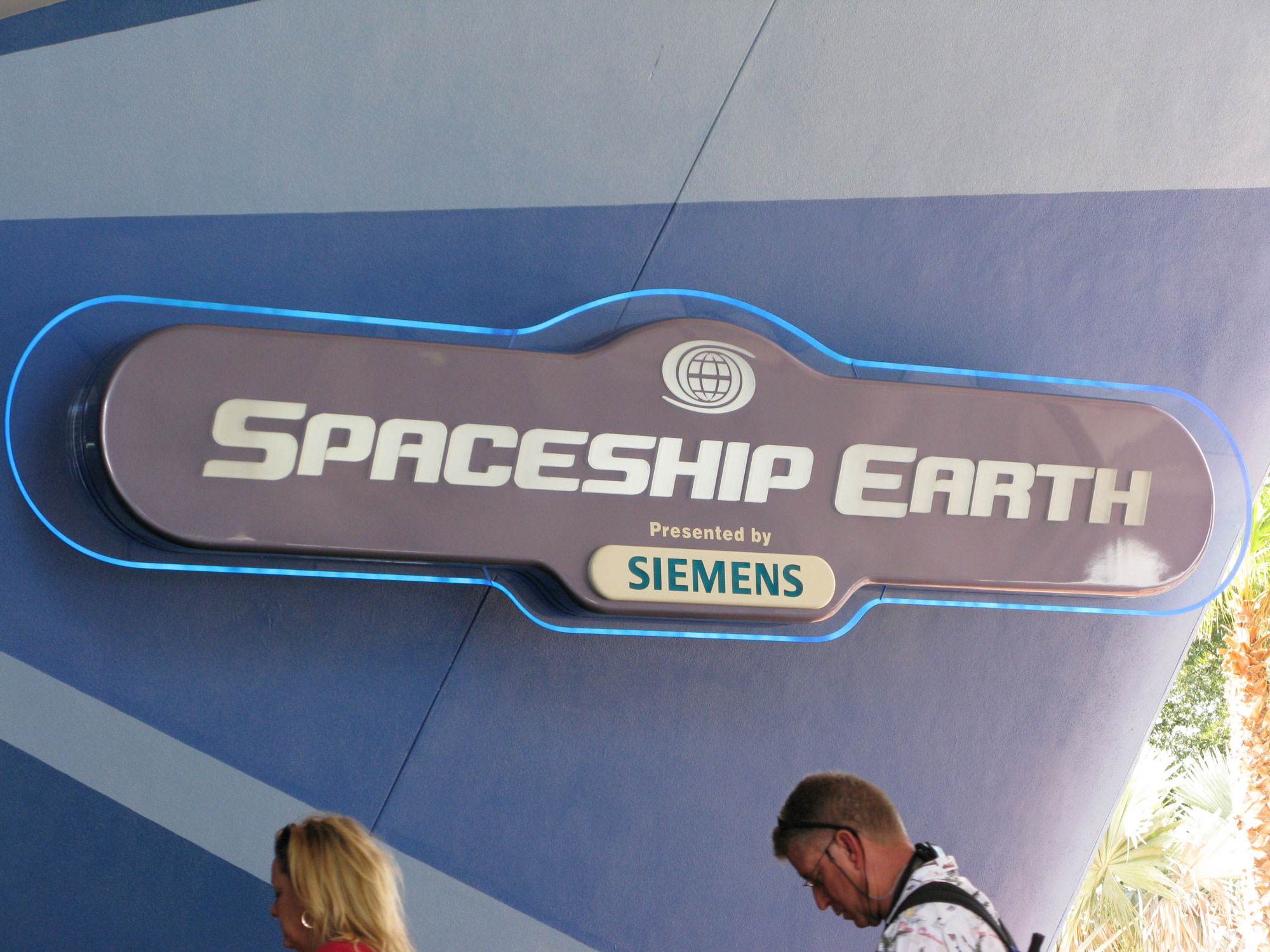 Spaceship Earth by Siemens sign