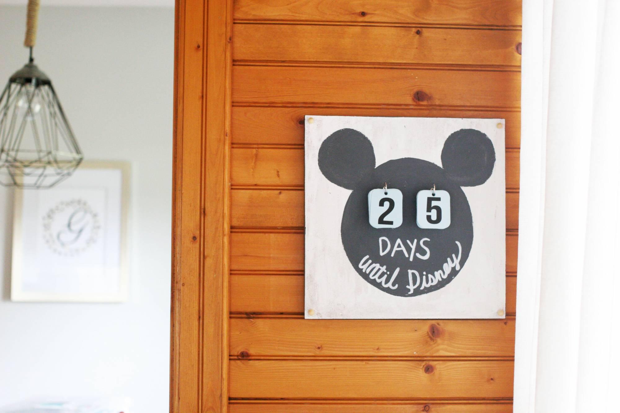 DIY Disney Vacation Countdown Calendar
