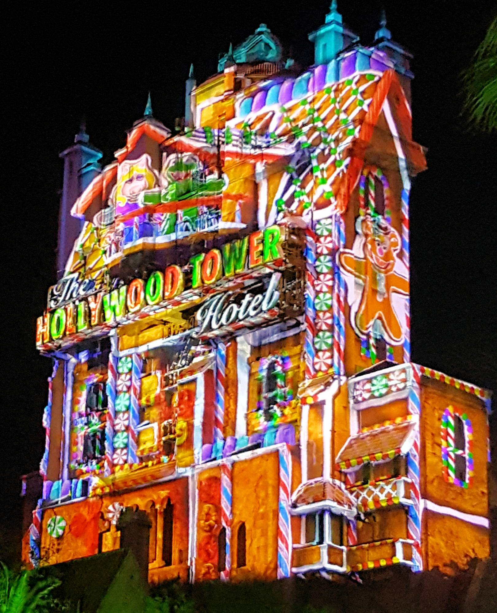 Sunset Seasons Greetings Tower of Terror
