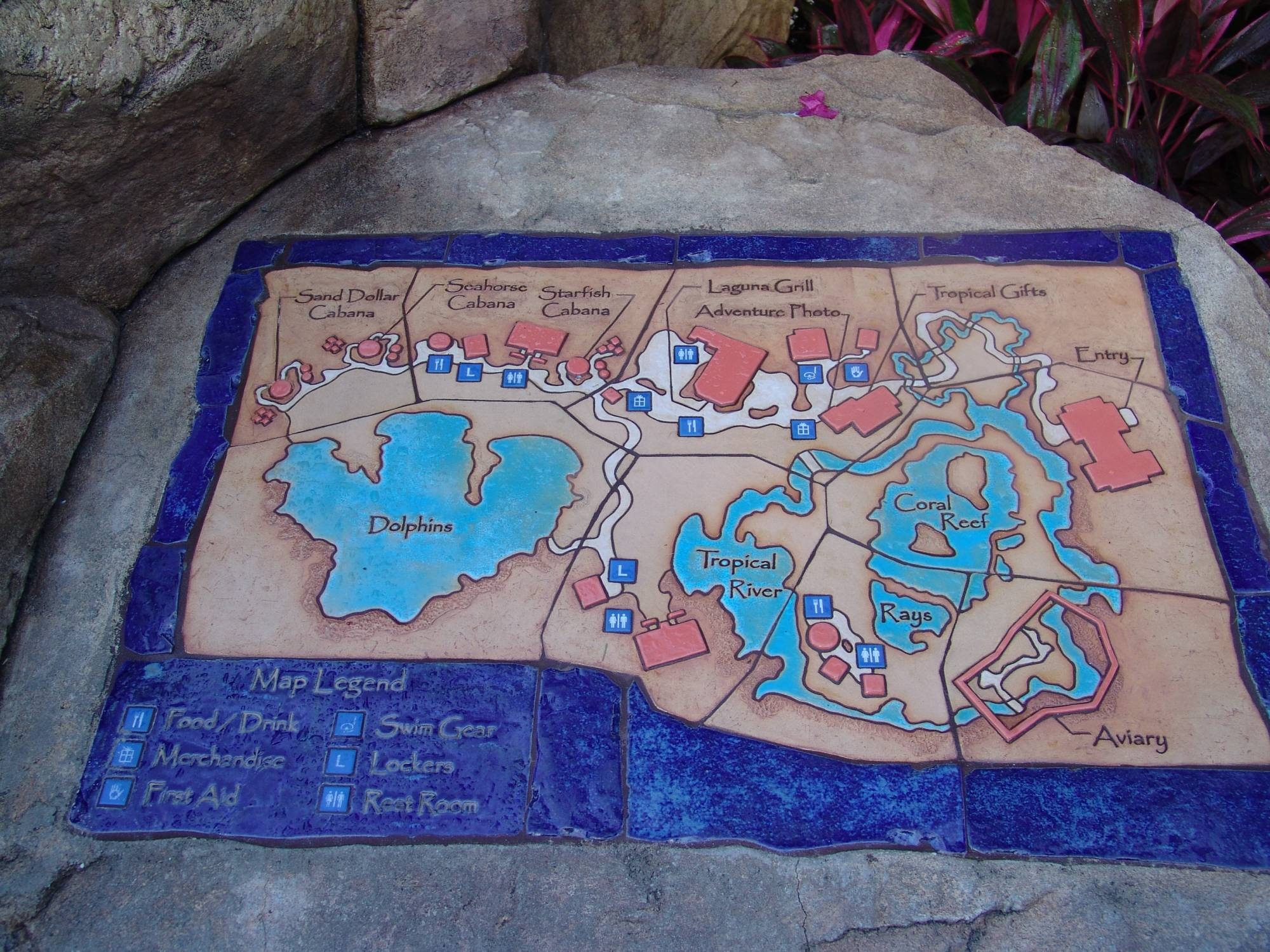 Discovery Cove - park map