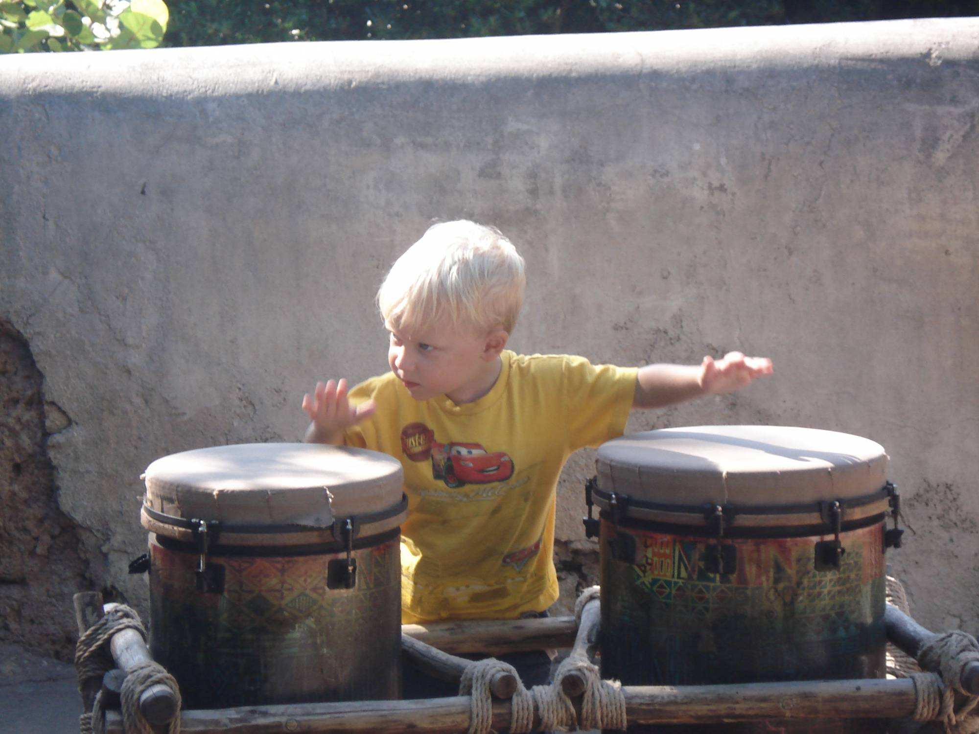 Playing the Drums in Animal Kingdom