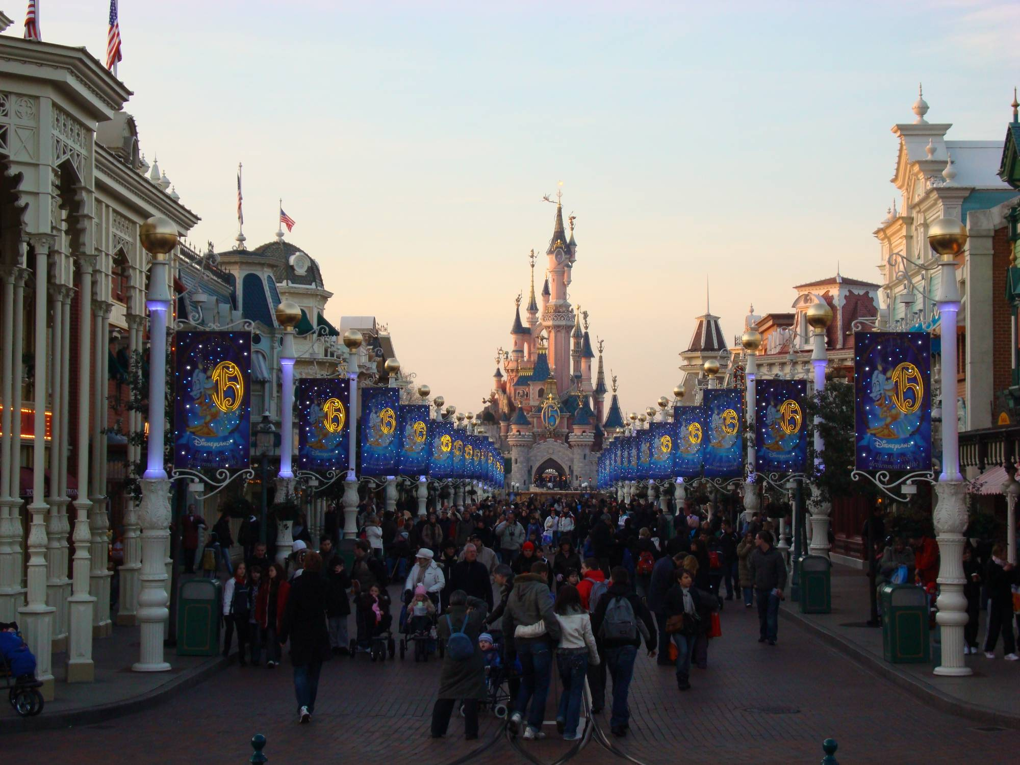 Disneyland Paris - Main Street USA at twilight
