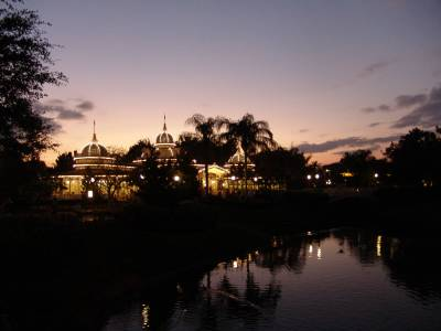 Magic Kingdom - Crystal Palace at twilight
